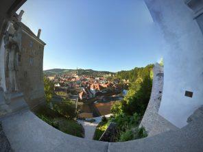 Český Krumlov - výhled na historické centrum