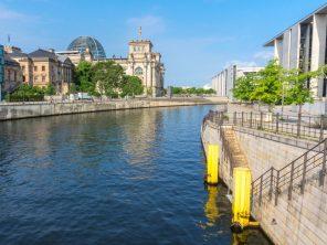 Řeka Spree v Berlíně