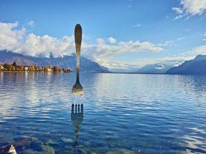 Ženevské jezero - městečko Vevey