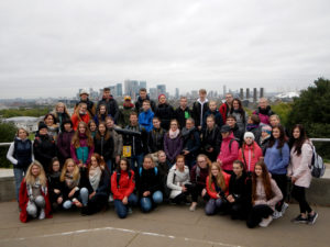 Londýn a jihovýchodní Anglie - společné foto ve Greenwich