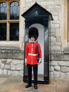 společné foto ve Greenwich - stráž v Tower