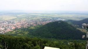 Výhled z věže na Magas-hegyi