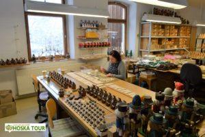 Výroba dřevěných hraček v Seiffenu