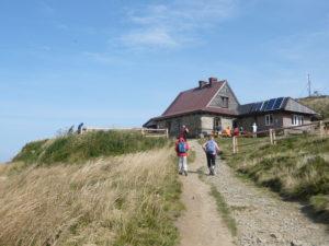 chata Puchatka (1228 m) na Polonině Wetlińska