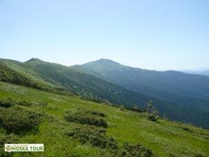 Pohled na hřeben pohoří Černá Hora