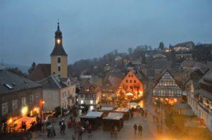 Adventní trh v městečku Hohnstein