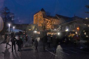 Náměstí a hrad v Hohnstein