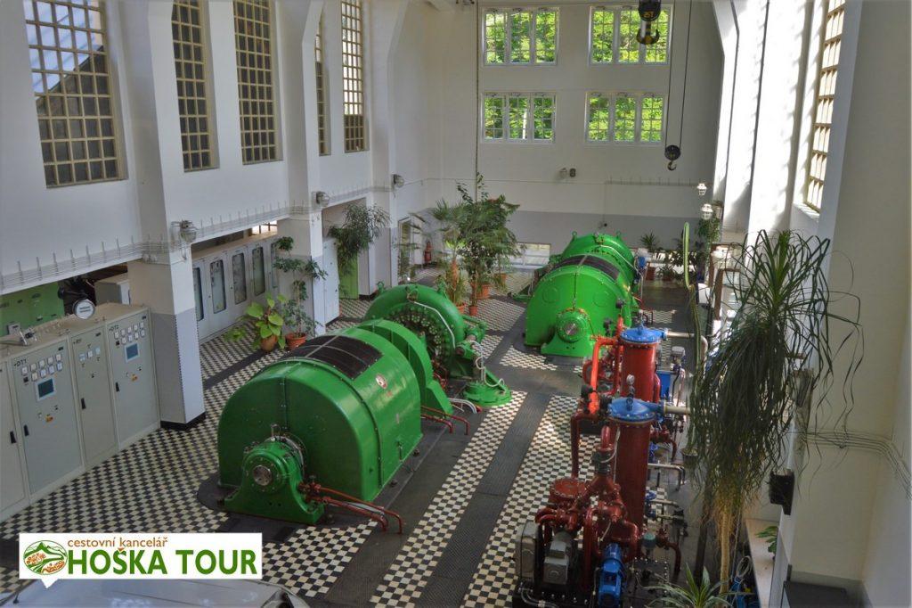 Turbíny vodní elektrárny Vydra