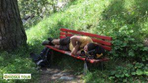 Turista na siestě