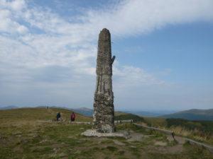 kartografický bod na vrcholu Wielka Rawka (1307 m)