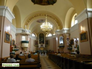 Interiér římsko-katolického kostela