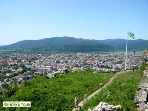 Pohled na město Chust