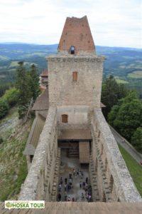 Západní věž hradu Kašperk