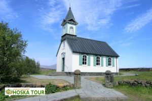 Kostel v národním parku Þingvellir
