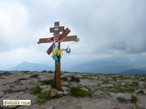 Jeden z vrcholových křížků na Hoverle