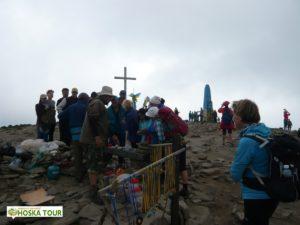 Prodej suvenýrů na Hoverle, nejvyšší vrchol Ukrajiny