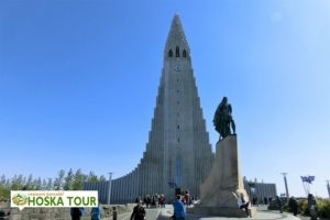 Reykjavík - kostel a nejvyšší budova města Hallgrímskirkja