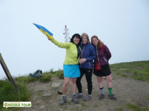 Skupinka na vrcholu Bliznica