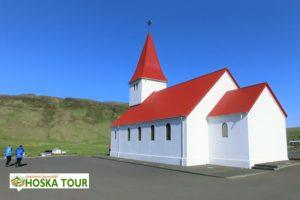 Kostel ve městě Vik
