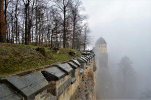 Vyhlídkové hradby pevnosti Königstein