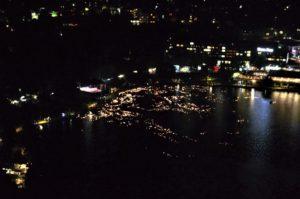 Svíčky na jezeře Bled