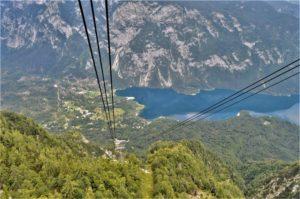 Bohinjské jezero z lanovky
