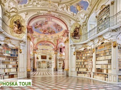Admont - knihovna (Rakousko)