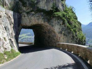 Tunel na trase do Cortina d'Ampezzo