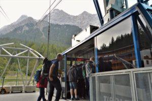 Turistika v okolí Zugspitze - lanovka na Zugspitzi
