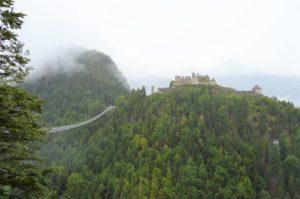 Turistika v okolí Zugspitze - hrad Ehrenberg