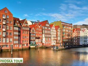 Hamburg - bývalé sklady nad vodními kanály
