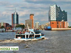Hamburk - výletní loď na Labi