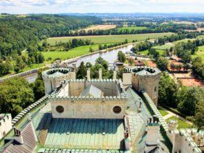 Hluboká nad Vltavou - pohled k řece Vltavě