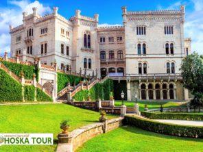 Itálie - zámek Miramare u Terstu