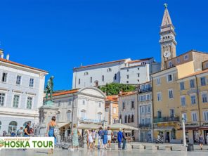 Jadran - centrum města Piran