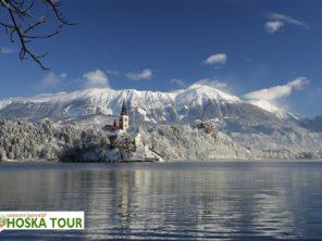 Jezero Bled v zimě - ubytování