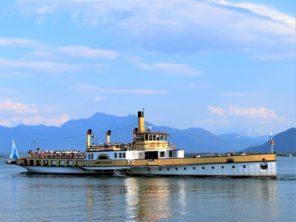 Loď na jezeře Chiemsee