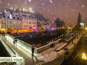 Lublaň - zimní pohoda