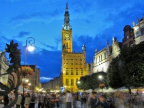 Noční Gdaňsk