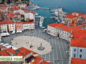 Piraň - náměstí Tartini u Jadranského moře