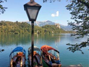 Pletny na Bledském jezeře