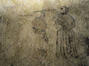 Podivné kresby na hradě Zvíkov