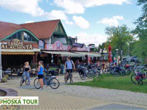 Restaurace u jezera Balaton - cyklistika