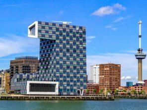 Rotterdam - přístav a věž Euromast