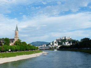 Salzburg a řeka Salzach