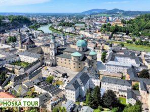 Salzburg z pevnosti Hohensalzburg