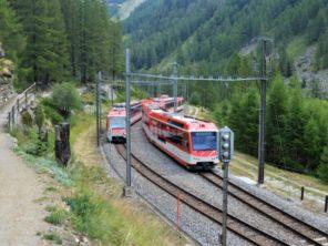 Vlak z Täsche do Zermattu
