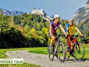 Tauernská cyklostezka - cyklotrasa pod hrade Hohenwerfen