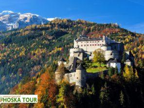 Tauernská cyklostezka - hrad Hohenwerfen