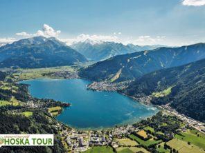 Tauernská cyklostezka - jezero Zeller See a pohoří Vysoké Taury